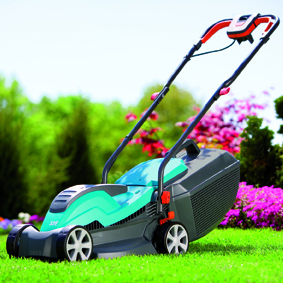 Rasaerba elettrico Gardena PowerMax 32 E nuovo rasarba, molto leggero e maneggevole, ideale per prati sino a 800 mq. Dotato di impugnatura con avvolgimento integrato, ruote con battistrada, cestello raccoglierba. Regolazione centralizzata dellaltezza di taglio su 5 livelli.  Il prezzo consigliato  di  119,00 (iva inclusa) www.gardenaitalia.it